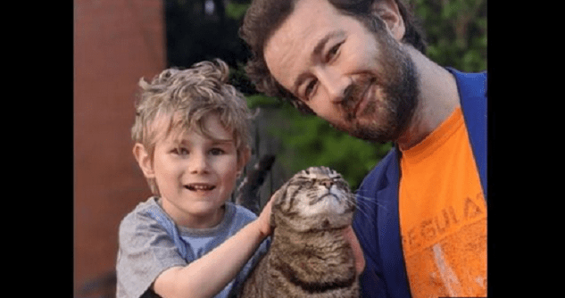 Seaneen Molloy's husband Robert, son Oisín and the family cat