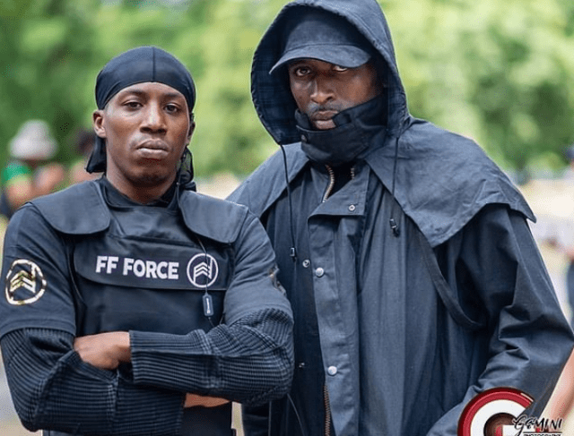 Imarn Ayton, 29, activist feted by Vogue, at the heart of a paramilitary style black power protest group 5