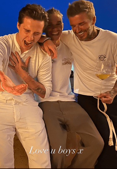 David Beckham and his sons:Brooklyn, 21,  Romeo, 17, and Cruz, 15, in fun snaps:'Love you boys' 3