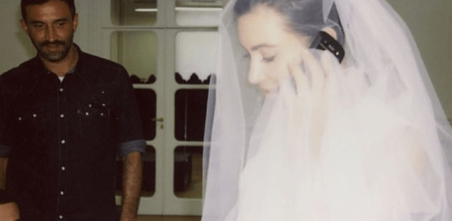 Kim Kardashian shares throwbacks of herself trying on her wedding dress after denying reports she is 'torn' about leaving Kanye West 10