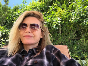Michelle Pfeiffer, 62, selfie as she soaks up the sun at LA home