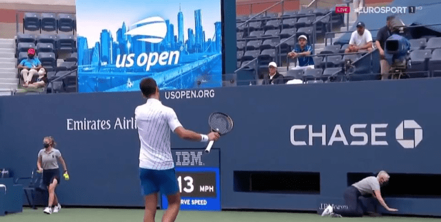 Novak Djokovic is DISQUALIFIED from US Open for whacking a ball at a line judge as world No 1 fumes at umpire for decision 5