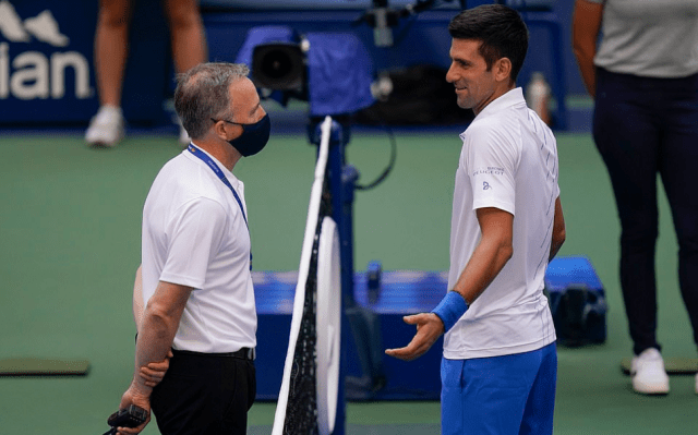 Novak Djokovic is DISQUALIFIED from US Open for whacking a ball at a line judge as world No 1 fumes at umpire for decision 4