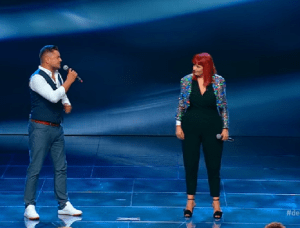 "2 Polițiști, Raul Jipa și Claudia Iuga, pe scena X Factor cu piesa ""Shallow"""