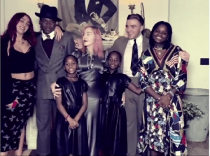 Madonna, 62, enjoys with ALL her six children and boyfriend Ahlamalik Williams
