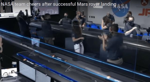 Nava spațială Perseverance a ajuns cu bine pe Marte 3