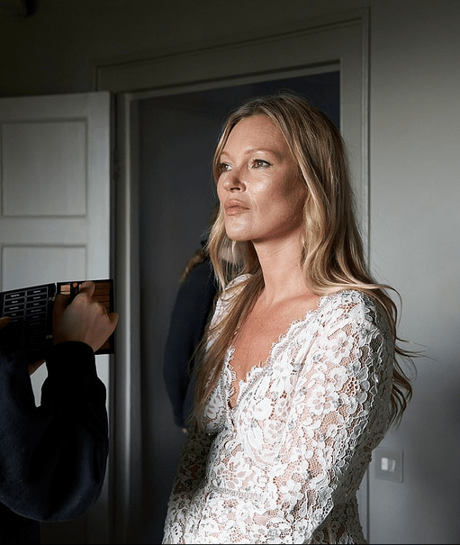 Kate Moss, 47, in a black blazer mini dress for new radiant campaign 9