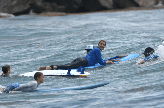 Ivanka Trump accidentally wallops son Theo, 5, in the face with surfboard 4