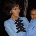 Kim Kardashian and North
