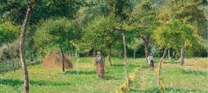 El-huerto-en-Eragny-1896-de-Camille-Pissarro