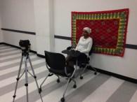 Recording session with Harari speaker Enas Adose. February 1, 2015.