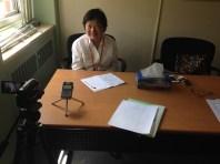 Angela Chen, who speaks the language of Guangfeng, China. Toronto 2017.