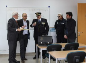 Visit of authorities to the police station.