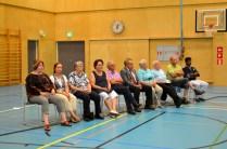 Kuvassa tarinaniskentäkilpailun finalistit vasemmalta Anne Angeria (Tornio), Hannele Maikkula (Rovaniemi), Sirkka Huhtahaara (Jyväskylä), Pirji Heikkilä (Iisalmi), Aulis Kytömäki (Eskilstuna, Ruotsi), Kyösti Niinikoski (Haapajärvi), Ritva Sillanpää (Paimio), Juhani Lassila (Oulun), Kari Väisänen (Joensuu) ja S.V. Dhanamurthy (Pyhäsalmi), kuva Eero Mattila