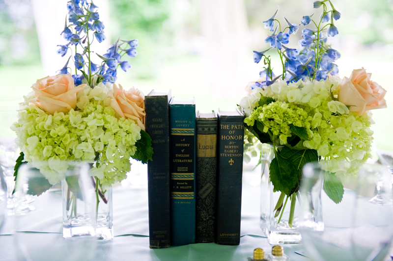 book wedding centerpieces  Elana Walker presents The Art of I DO