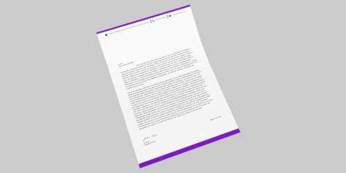 Design Unique High-Quality Print Ready Vector Letterhead in High-Resolution for your Brand / Business