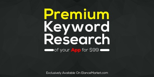 Premium Keyword Research of your App