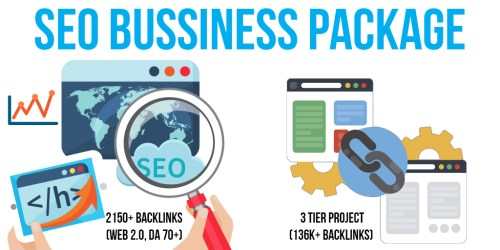 SEO Bussiness Package: 5 Premium & 10 SEnuke Campaigns, 2150+ Backlinks (Web 2.0, DA 70+, Do-Follow), 3 Tier Project (136K+ Backlinks)