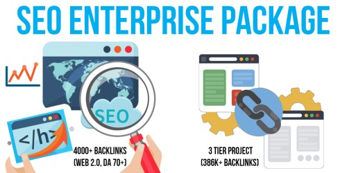 SEO Enterprise Package: 10 Premium & 20 SEnuke Campaigns, 4000+ Backlinks (Web 2.0, DA 70+, Do-Follow), 3 Tier Project (386K+ Backlinks)