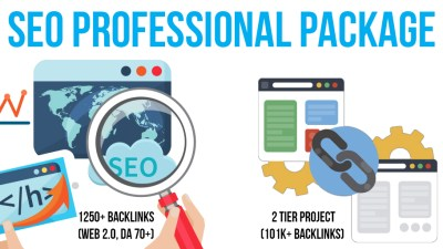 SEO Professional Package: 2 Premium & SEnuke Campaigns, 1K+ Backlinks (Web 2.0, DA 70+, Do-Follow), 2 Tier Project
