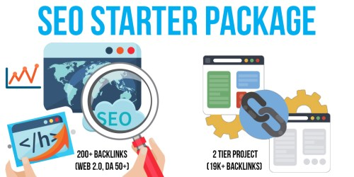 SEO Starter Package: 1 Premium & SEnuke Campaigns, 200+ Backlinks (Web 2.0, DA 50+), 2 Tier Project (19K+ Backlinks)