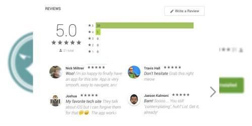 Buy 25 Android App Ratings / Reviews with High Retention Rate