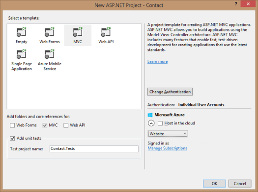 vs2013NewAspProject