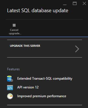AzurePortalDbUpgrade