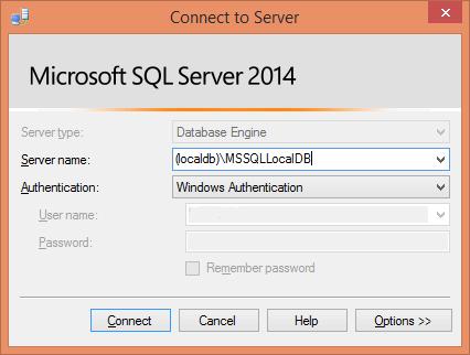 SqlServerObjectExplorerConnectToServer
