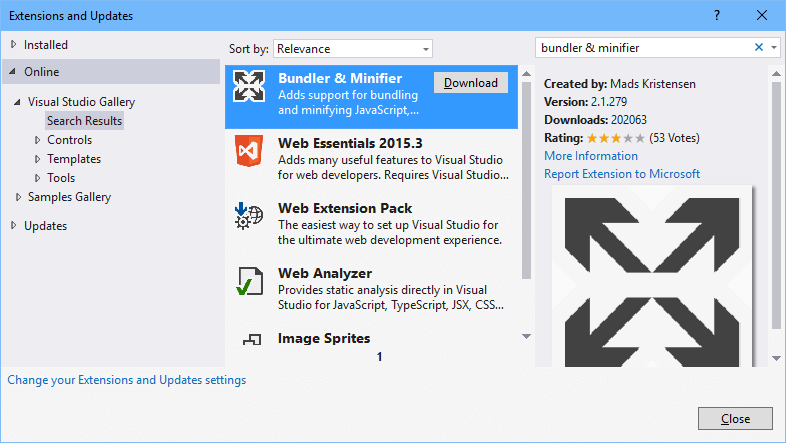Change from Bundle & Minifier to Gulp in Visual Studio – Eric L