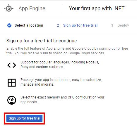Deploying an ASP NET Core Application to Google Cloud