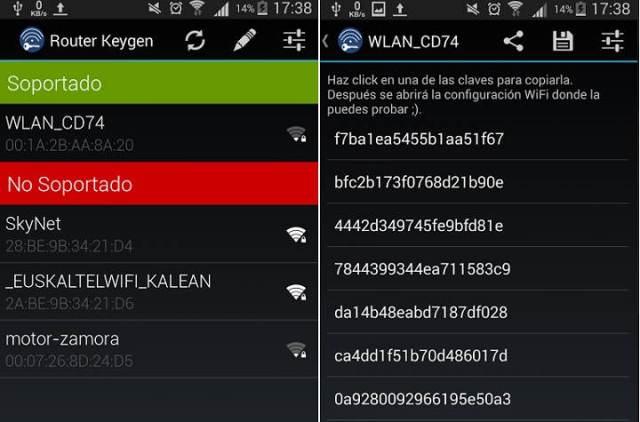 Ojo, únicamente soporta redes WPA y WEP