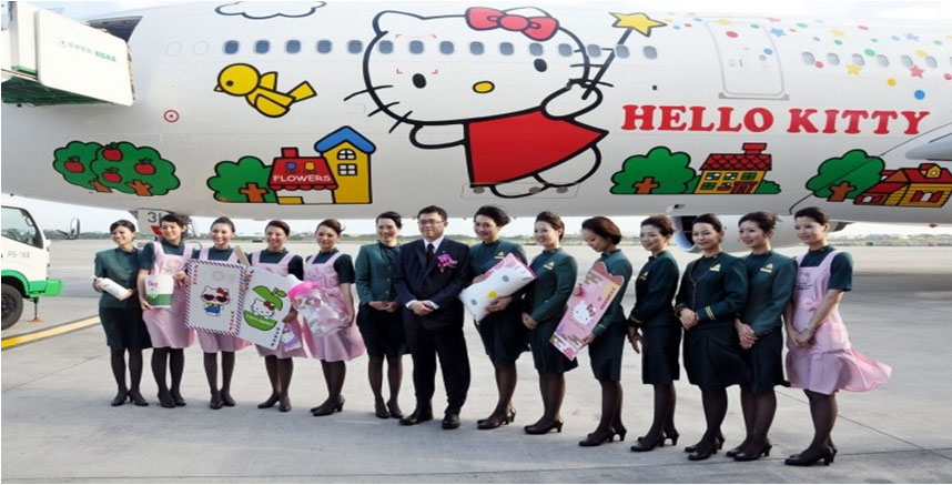 Eva Air-Hello Kitty (SumberGambar :pinterest.com)