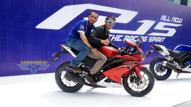 Posisi boncengan Yamaha New R15