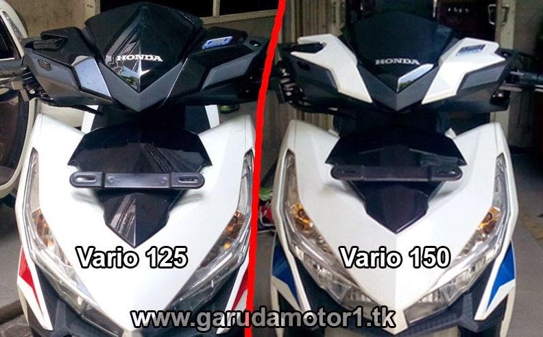 Honda Vario 150 tertukar dengan Vario 125