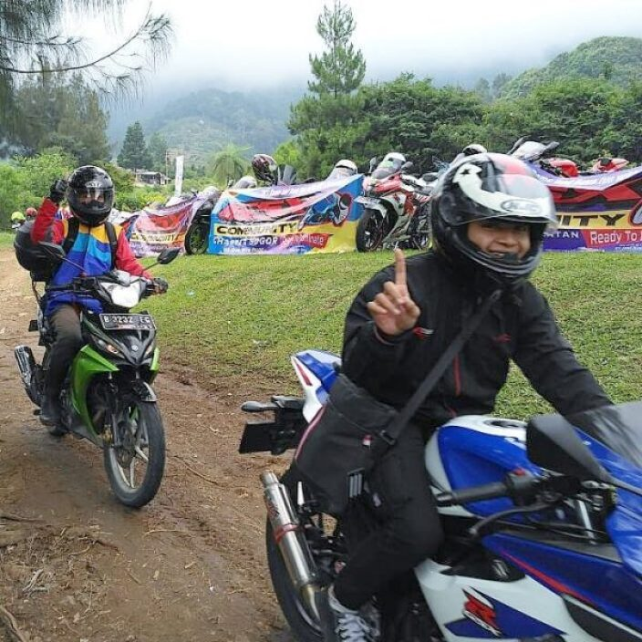 Mini Touring MX Strada di Suzuki Bike Meet Cibodas