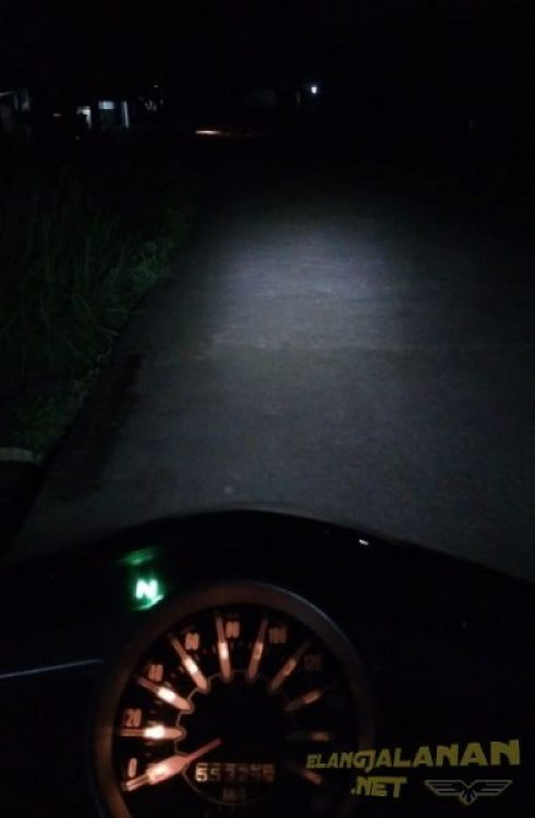 modifikasi headlamp NJMX pakai lampu LED