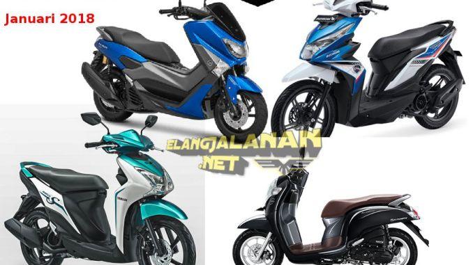 10 Motor Terlaris Januari 2018