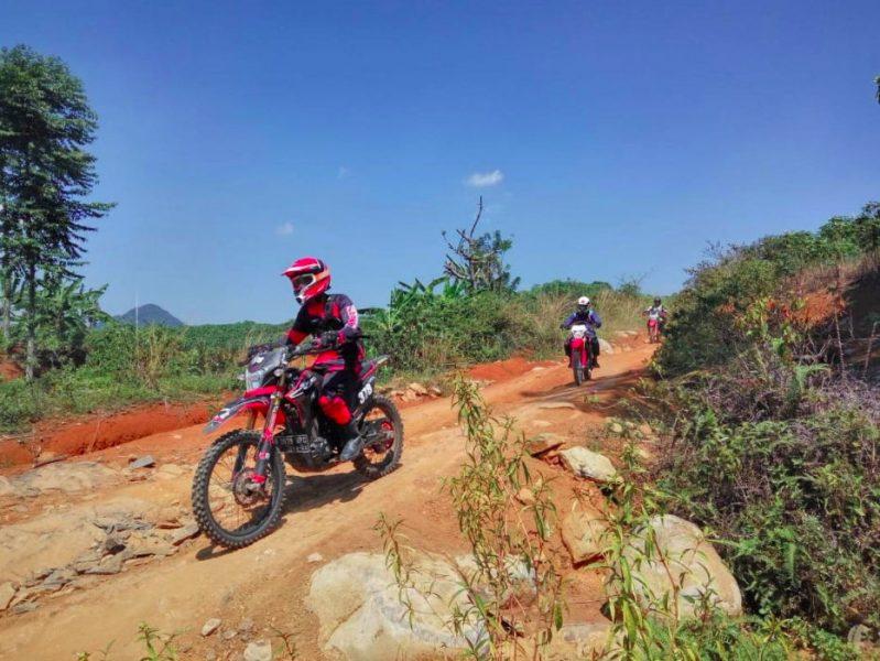 Sambut Gelaran MXGP seri Indonesia, Wahana Gelar Honda Roadventure CRF150L trabas Hambalang