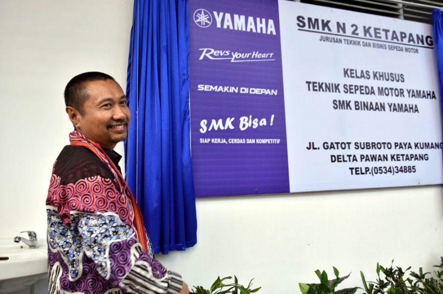 Tingkatkan Kompetensi Siswa, Yamaha Resmikan SMK Kelas Khusus di Ketapang