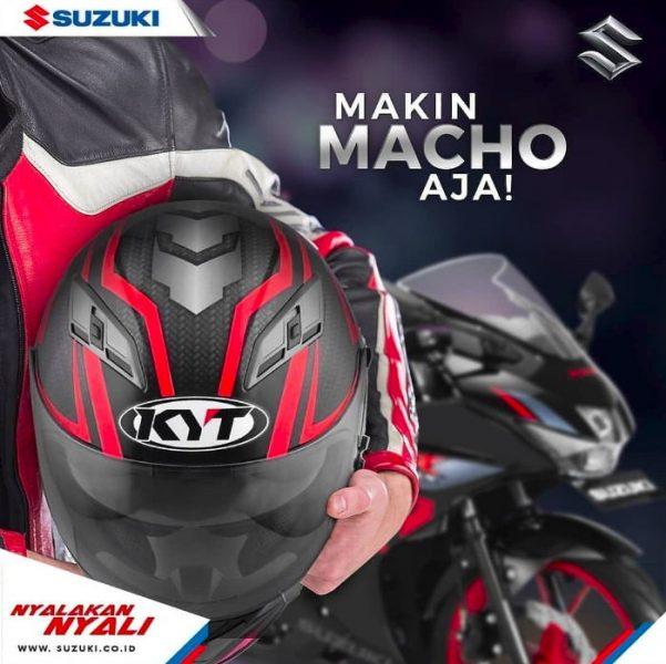 Bonus Pembelian Suzuki GSX-R150, Gratis Helm KYT Vendetta2 Flat Visor Limited Edition
