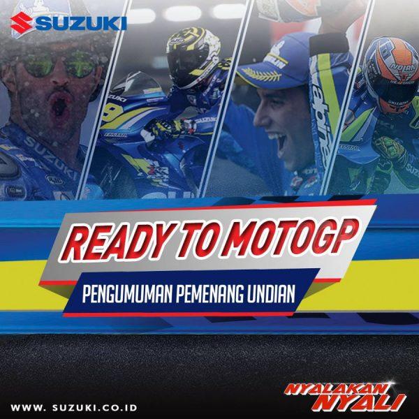 Ini dia daftar Pemenang Nonton MotoGP Sepang 2018 bareng Suzuki