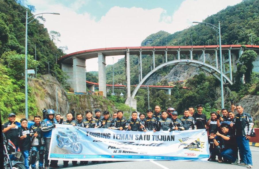 Aktivitas Touring Suzuki GSX150 Bandit, Berlanjut Jelajahi Pekanbaru – Padang