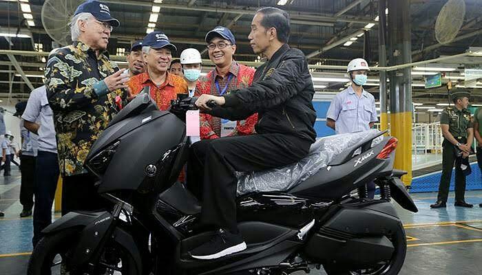 Presiden Jokowi Hadir di Pelepasan 1,5 Juta unit Ekspor Motor Yamaha