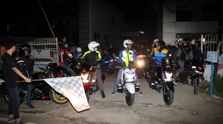 Gelar Saturday Night Riding, GSX Bandit Community Indonesia Resmi Terbentuk