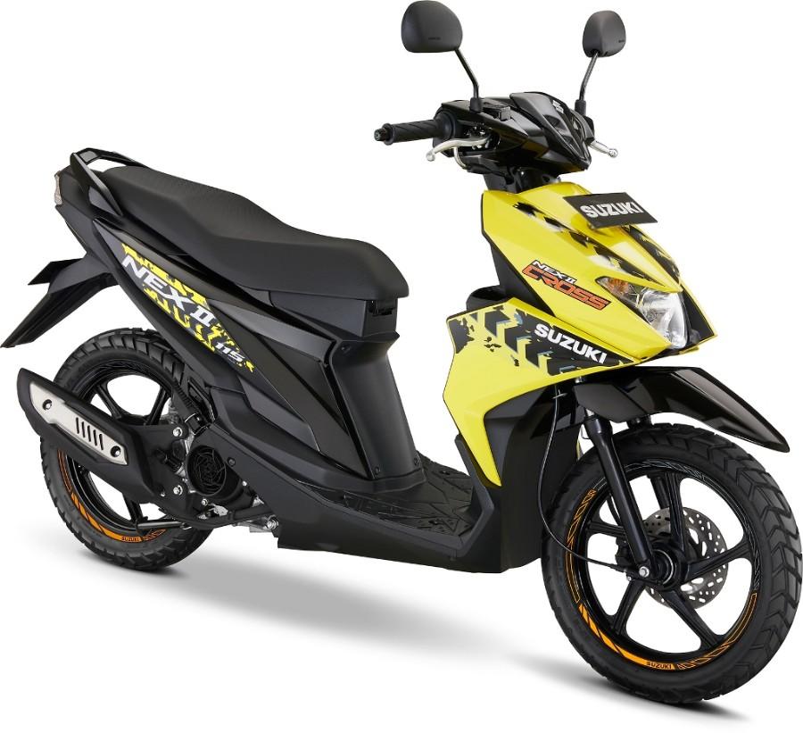 Suzuki NEX II Cross Aura Yellow Accessories Version