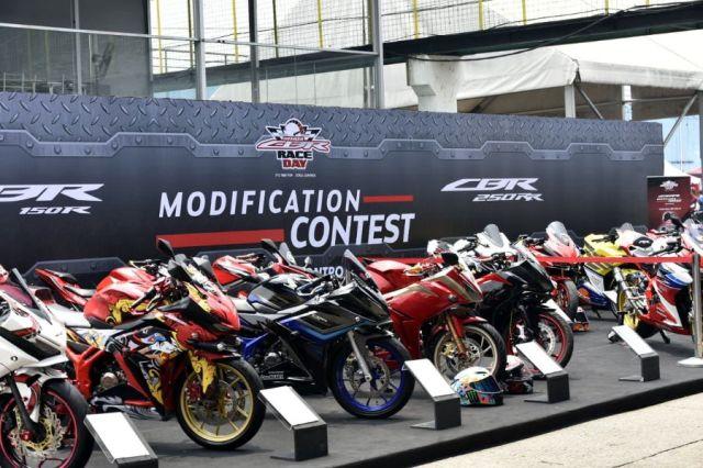 Kontes Modifikasi di CBR Race Day