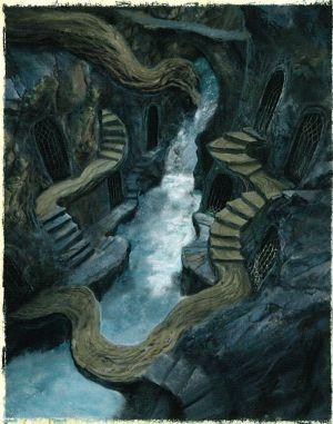 Otro boceto del palacio de Thranduil