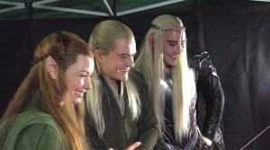 Evangeline Lilly, Orlando Bloom y Lee Pace