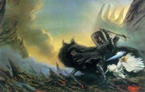El duelo entre Fingolfin y Morgoth, según John Howe